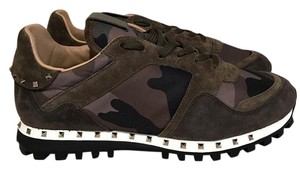 Valentino Camo Army Suede Studded Stud green Athletic