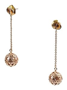 Dior Christian Dior Gold Tone Resin Bead Secret Cannage Drop Earrings