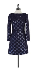 Jill Stuart short dress Blue Sequin Polka Dot on Tradesy