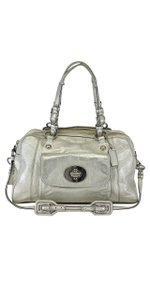 Coach Silver Leather Shoulder Bag