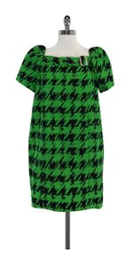Marc by Marc Jacobs short dress Black Green Houndstooth Cotton on Tradesy