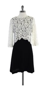 Sandro short dress Black & White Layered Lace on Tradesy