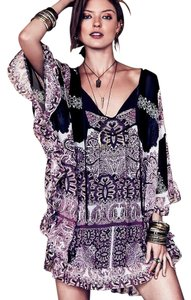 Free People short dress black combo 'marla Dreams' Caftan on Tradesy