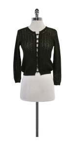 Vince Green Cotton Knit Cardigan