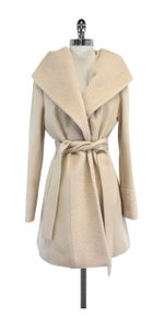 Trina Turk Cream Wool Coat