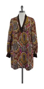 Tibi short dress Color Paisley Silk Long Sleeve Shift on Tradesy
