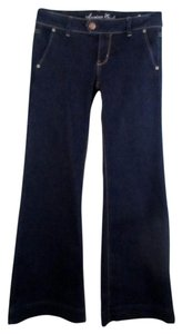 American Eagle Outfitters Trouser/Wide Leg Jeans-Dark Rinse