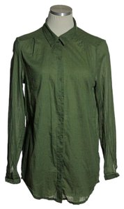 Divided by H&M Button Down Shirt Olive Green