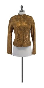 Tory Burch Tan Gold Suede Jacket