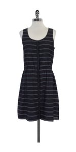 Theory short dress Blue & Grey Striped Cotton on Tradesy