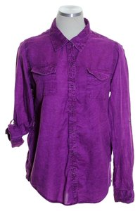 Arizona Button Down Shirt Purple