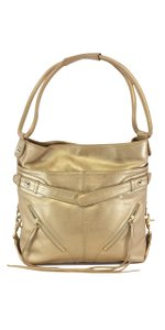 Botkier Gold Leather Shoulder Bag