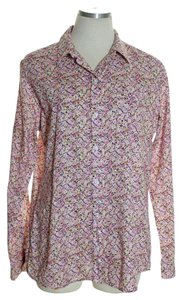 Merona Button Down Shirt Multi-color
