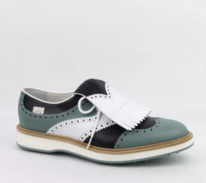 Gucci Multi-color Men's Leather Brogue Fringed Oxford Golf 5.5/ Us 6 368438 Shoes