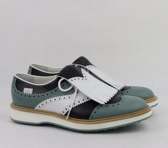 Gucci Multi-color Men's Leather Brogue Fringed Oxford Golf 5.5/ Us 6 368438 Shoes Image 3