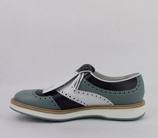 Gucci Multi-color Men's Leather Brogue Fringed Oxford Golf 5.5/ Us 6 368438 Shoes Image 6
