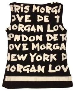 Morgan de Toi Cool T-shirt Out T Shirt Black & White