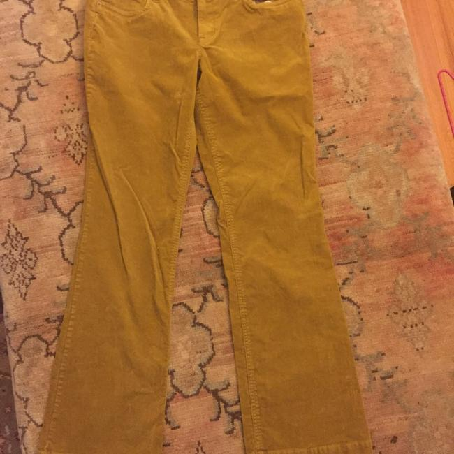 J.Crew Straight Pants Mustard Gold/Brown Image 1