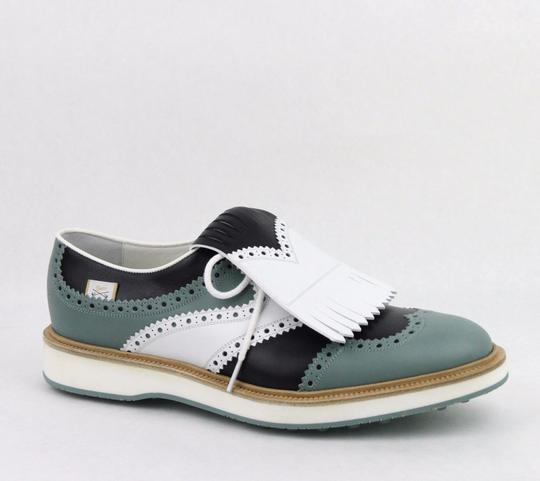 Gucci Multi-color Men's Leather Brogue Fringed Oxford Golf 9/ Us 9.5 368438 Shoes Image 0
