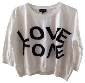 Topshop Love Logo Sweater