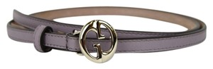 Gucci Lilac Thin Skinny Belt w/Interlocking G Buckle 90/36 362731 5311