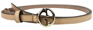 Gucci Beige Thin Skinny Belt w/Interlocking G Buckle 90/36 362731 9905