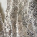 Boston Proper Champagne Champagne Sparkle Scalloped Top Cream Image 1