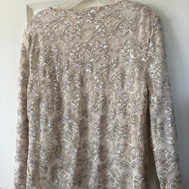 Boston Proper Champagne Champagne Sparkle Scalloped Top Cream Image 2
