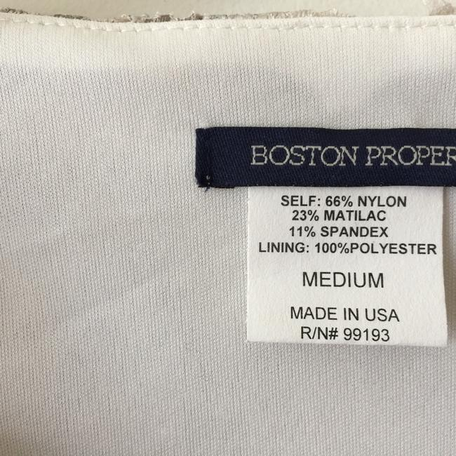 Boston Proper Champagne Champagne Sparkle Scalloped Top Cream Image 3