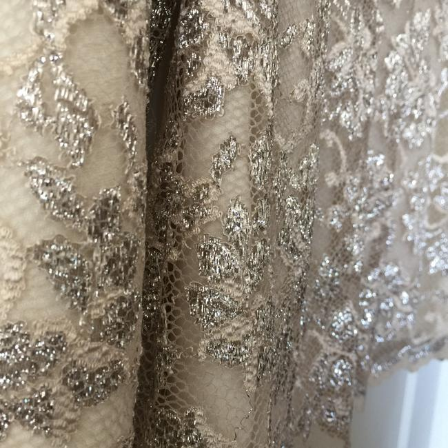 Boston Proper Champagne Champagne Sparkle Scalloped Top Cream Image 5