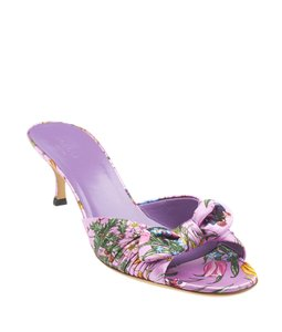 Gucci Kitten Heels Sandals Multi-Color,Purple Mules