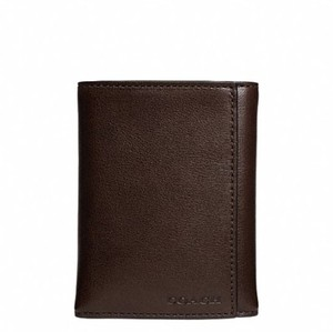 Coach Coach F74499 Bleecker Trifold Leather Brown Mahogany Wallet