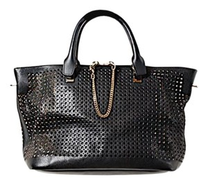 Chloé Chloe Perforated Satchel in Black