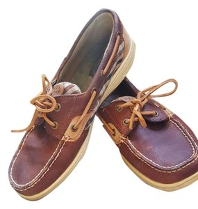 Sperry Leather Dark Brown Flats
