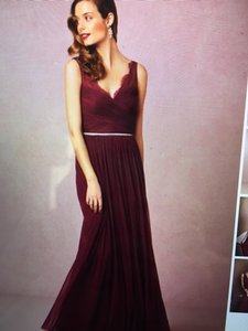 BHLDN Black Cherry Lace and Tulle Fleur Number 33892415 Feminine Bridesmaid/Mob Dress Size 4 (S)