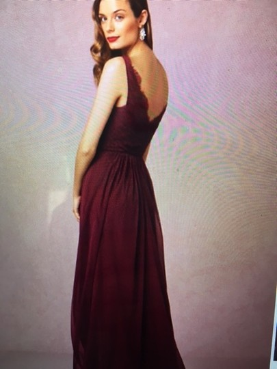 BHLDN Black Cherry Lace and Tulle Fleur Number 33892415 Feminine Bridesmaid/Mob Dress Size 4 (S) Image 1