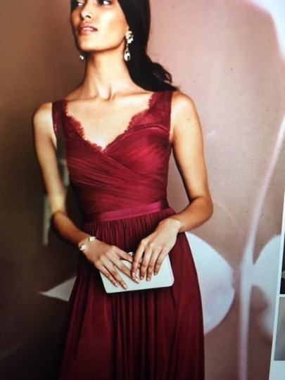BHLDN Black Cherry Lace and Tulle Fleur Number 33892415 Feminine Bridesmaid/Mob Dress Size 4 (S) Image 2