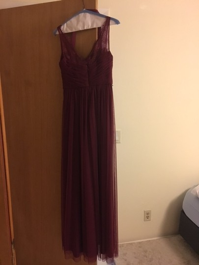 BHLDN Black Cherry Lace and Tulle Fleur Number 33892415 Feminine Bridesmaid/Mob Dress Size 4 (S) Image 5