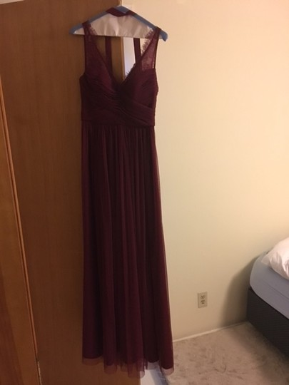 BHLDN Black Cherry Lace and Tulle Fleur Number 33892415 Feminine Bridesmaid/Mob Dress Size 4 (S) Image 6