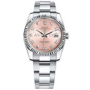 Rolex Rolex Oyster Perpetual Date 34 Steel & White Gold Pink Diamond Dial