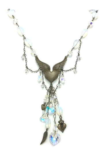 Preload https://img-static.tradesy.com/item/20300640/opal-sterling-silver-heart-opalstone-and-crystal-necklace-0-0-540-540.jpg