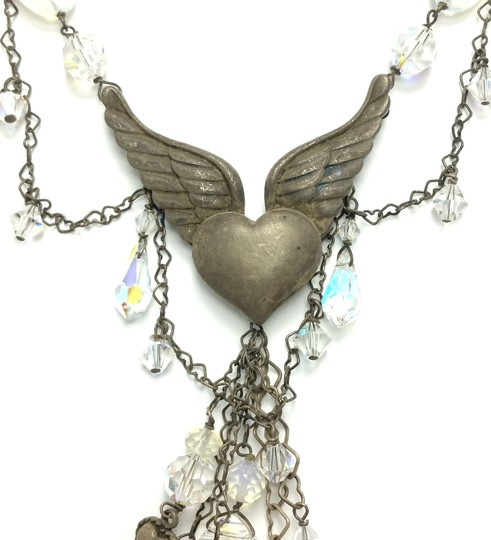 Kinley Sterling Silver Heart Opalstone and Crystal Kinley Necklace Image 5