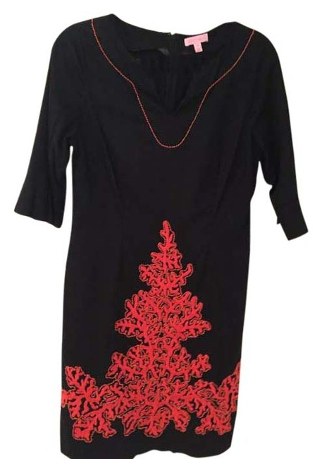 Preload https://img-static.tradesy.com/item/20300682/lilly-pulitzer-black-party-mid-length-cocktail-dress-size-8-m-0-1-650-650.jpg