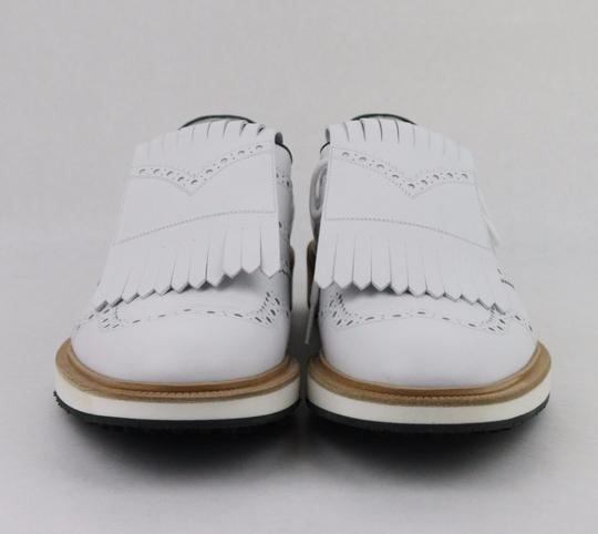 Gucci White Men's Leather Brogue Fringed Oxford Golf 9/ Us 9.5 368438 9014 Shoes Image 2