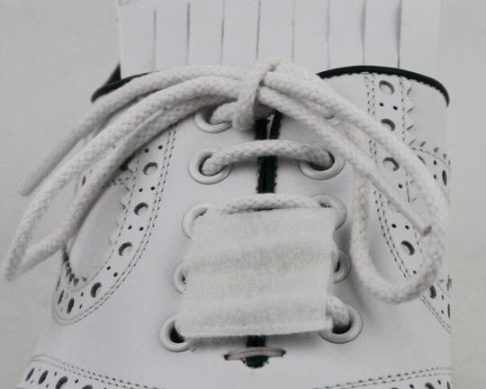 Gucci White Men's Leather Brogue Fringed Oxford Golf 9/ Us 9.5 368438 9014 Shoes Image 5