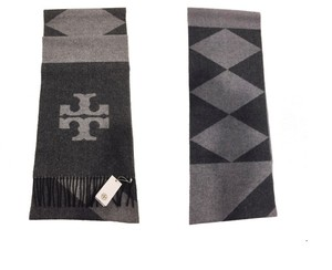 Tory Burch NEW!!! Tags Cashmere Wool Fringe Logo Scarf Wrap