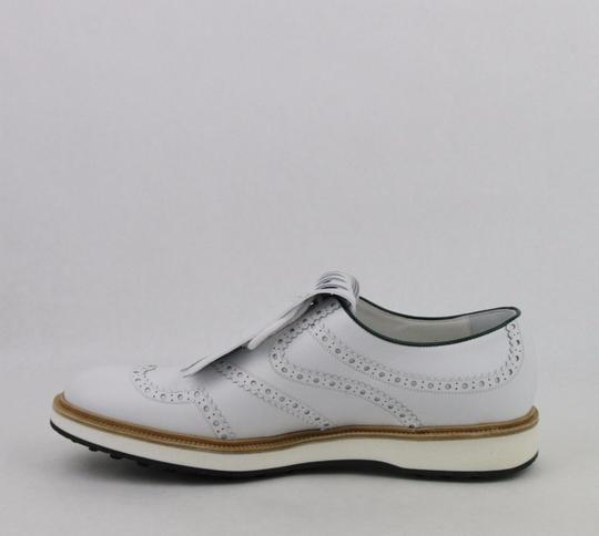 Gucci White Men's Leather Brogue Fringed Oxford Golf 10/ Us 10.5 368438 9014 Shoes Image 6