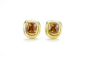 David Yurman David Yurman 18K Yellow Gold Citrine Stud Earrings