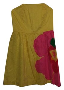 Lilly Pulitzer short dress Yellow, Pink, Green on Tradesy