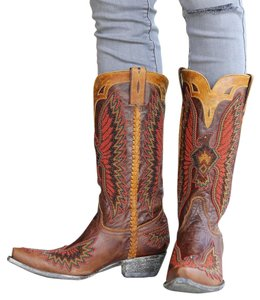 Old Gringo Limited Edition Hand Beaded Designer Cowboy Leather Brown Boots
